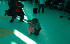 These two children, Airport