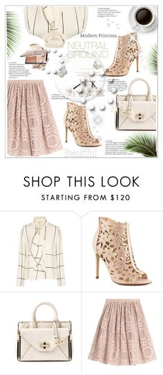 """""""neutral......bow....and......"""" by stranjakivana ❤ liked on Polyvore featuring Tory Burch, Jessica Simpson, Diane Von Furstenberg, Burberry, bows and neutrals"""