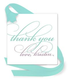 Thank You Gift Tags with Attached Ribbon
