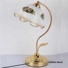 87.36$  Buy here - http://alie4m.worldwells.pw/go.php?t=32647049962 - Retro Table Lamp Cabeceira de Cama Desk light Escritorio Decoracao Lamparas Art Deco Luminaria de Mesa Flower Bedside Luminaire 87.36$