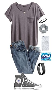 ;) by sjkish on Polyvore featuring H&M, J.Crew, Converse, Pura Vida, Kendra Scott, Uncommon, Natasha and Fitbit