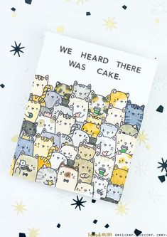 We heard it gave Cake Kitty Birthday Card # Birthday # Hare # Card # Cake # Kitty Wir hörten, dass es Kuchen-Miezekatze-Geburtstags-Karte gab We heard that there was Cake Kitty Birthday Card Creative Birthday Cards, Cute Birthday Cards, Birthday Cards For Friends, Bday Cards, Birthday Greetings, Birthday Gifts, Tumblr Birthday Cards, Greeting Cards Birthday, Card Ideas Birthday