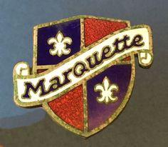 Marquette Radiator Badge Emblem Auto Logos, Car Logos, Logo Autos, Automobile Logos, Company Badge, Car Badges, Car Ornaments, Badge Logo, First Car
