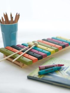 Child-Safe Paints - Xylophone - Xylophone: Citrine, Marigold, Obsidian Green, Mischief, Tropez Blue, Pale Lime