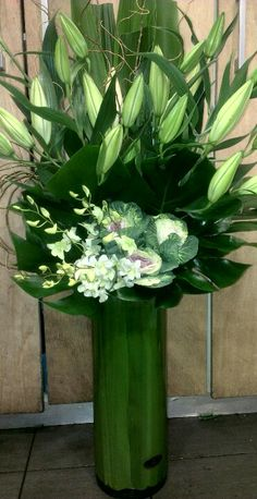Tall Corporate Flower Vase Arrangement