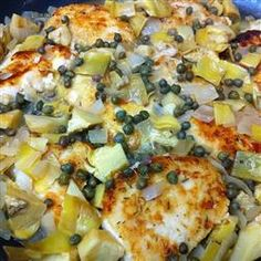 Chicken Piccata with Capers and Artichoke Hearts