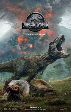 The official title and a new poster for the sequel to 'Jurassic World' have been revealed. Hitting theatres on June the upcoming installment, once again starring Chris Pratt and Bryce Dallas Howard, will be called 'Jurassic World: Fallen Kingdom'. World Movies, Hd Movies, Movies To Watch, Movies Online, Movie Tv, 2018 Movies, Movies Free, Action Movies, Blockbuster Movies