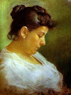 Picasso, Pablo (1881-1973) - 1896  Portrait of the Artist's Mother (Museo Picasso, Barcelona)