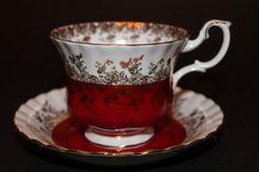 Royal Albert Bone China Teacup and Saucer Regal by CraigsTreasures, $25.00