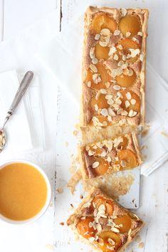 almond apricot tart & apricot soup