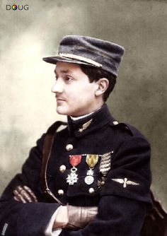 Capitaine George Guynemer, WW1 French Air Ace of Escadrille N.3 squadron, achieved 53 confirmed victories. He died at the age of 22, his body was never found.