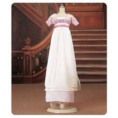 Franklin Mint Stockings For Titanic White//Yellow Strolling Dress For Vinyl Doll