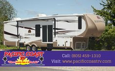 Pacific Coast RV is the largest RV dealership in the country. We sell a variety of RVs including fifth wheels. Visit our website to view available units. For more info call: (805) 459-1310