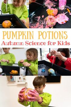 Fun Autumn Science Activity for kids making pumpkin potions. Easy Pumpkin Science Experiment for kids using these ingredients. Sensory Activities, Educational Activities, Toddler Activities, Learning Activities, Kids Learning, Sensory Play, Kindergarten Activities, Early Learning, Family Activities