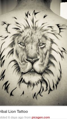 In this post collection of 20 tribal lion tattoo design for your inspiration. Lion The king of jungle, shows the Strength ,Courage ,pride ,force and vitality. The lion is one among the ennobling Creature of the globe. Lion Tribal, Tribal Lion Tattoo, Lion Tattoo Design, Tattoo Designs, Lion Design, Design Design, Leo Tattoos, Future Tattoos, Animal Tattoos