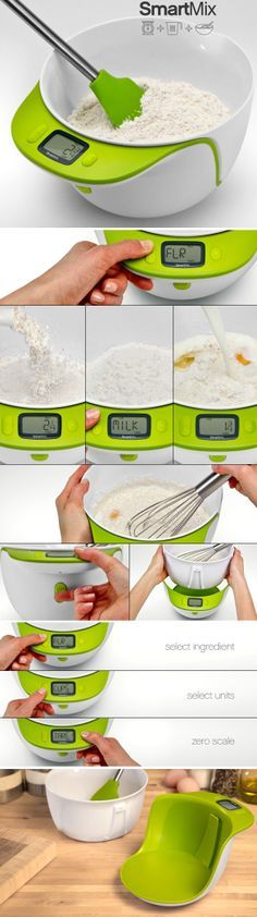 The perfect marriage between a digital scale, measuring cup and a mixing bowl