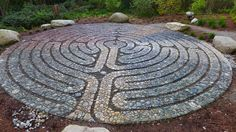 Pebble mosaic labyrinth by Jeffrey Bale completed summer 2014 at Halls Hills Park on Bainbridge Island, Washington. Bale's blog is rewarding for anyone interested in gardens, art, photography, stone, resonant locations from around the world...