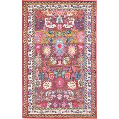 Unique Loom Haven Medici Vintage Floral Area Rug or Runner Young House Love, Pink And Blue Rug, Pink Rugs, Blue Rugs, Blue Orange, Navy Blue, Diy Window Shades, Floral Area Rugs, Orange Area Rug