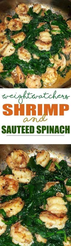 Weight Watcher's Shrimp & Sauteed Spinach!!! - 22 Recipe