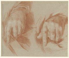 Studie van twee handen, anoniem, 1700 - 1800