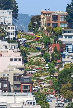 World crookedest 'Lombard' street, San Francisco CA