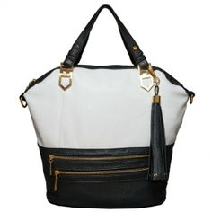 Libby Satchel- Black/White