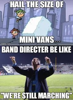 Nothing stops the marching band