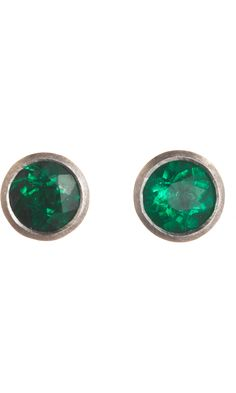 Malcolm Betts Emerald Stud Earrings