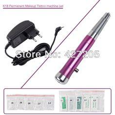 New Permanent Makeup Tattoo Eyebrow Pen Machine 50 Needles 50 Tips EU or US Plugs U-Pick K18 Free Shipping #Affiliate