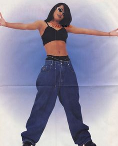 In my mind Aaliyah invented crop tops. I don't even care if that's not factually… In my mind Aaliyah invented crop tops. I don't even care if that's not factually or historically accurate. We truly (at least partly) owe today's most pro Aaliyah Costume, Aaliyah Outfits, Aaliyah Style, Hipster Outfits, Hip Hop Outfits, Cute Outfits, Fashion Outfits, Fashion Boots, Cropped Tops