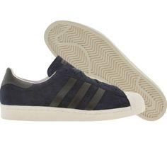 Adidas Superstar 80s  (dark indigo / black / legacy). $89.99