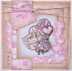 stempel, Die en paperpack uit de Love Collection