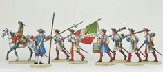 'Flat' miniatures of Louis XIV army
