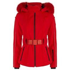 Fendi Fur Trim Ski Jacket ($3,030) ❤ liked on Polyvore featuring outerwear, jackets, waterproof jacket, fur trim jacket, tailored jacket, water proof jacket and fox fur jacket