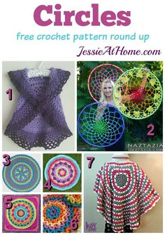 Oh My Goodness, I'm going in circles and so will you if you choose to make something from this great selection of free circular crochet patterns.