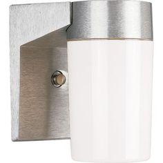 Progress Lighting   Hard-Nox Collection Satin Aluminum 1-light Wall Lantern   Home Depot Canada