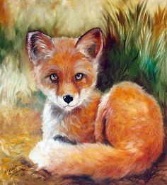 Baby Red Fox art | Newborn Baby Red Fox