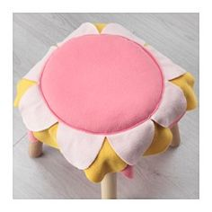 IKEA - LATTJO, Chair pad, , The chair pad is nice and soft to sit on, and adds a splash of color.You can easily attach the pad to the chair or the stool's legs using the attached ties.Easy to keep clean: machine washable.