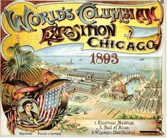 Check out these predictions from the 1893 World's Columbian Exposition in Chicago on how the world would look in Some are accurate and some are outrageous. Expo Chicago, Chicago Poster, Chicago Map, World's Columbian Exposition, White City, World's Fair, Vintage Travel Posters, Victorian Era, Poster