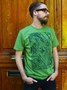 93d12441df4bf T-Shirt Original Homme   Citizen 2 de Aseyn   Monsieur Poulet Kaki Homme,