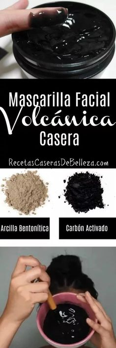DIY Volcanic Face Mask for Acne and Oily Skin A blend of bentonite clay & activated charcoal to deep clean pores, detoxify, and reveal smooth, perfect skin after just one use! Mask For Dry Skin, Face Mask For Blackheads, Acne Face Mask, Face Face, Deep Clean Pores, Clean Face, Argile Bentonite, Bentonite Clay, Deep Cleaning Face Mask