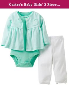3ff72e88c Carter's Baby Girls' 3 Piece Cardigan Set (Baby) - Mint Stripe - Mint