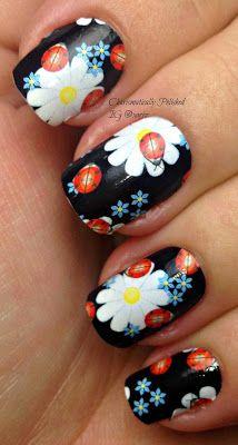 Charismatically Polished: black floral
