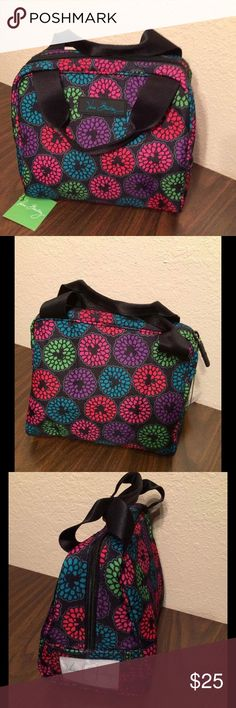Vera Bradley Mickey Mouse Lunch Cooler NWT This is made of the Lighten Up water proof material. It lined in easy-to-clean foodgrade lining. It has a clear ID window and zip around closure. This comes from a smoke free and pet free home! Vera Bradley Bags Travel Bags