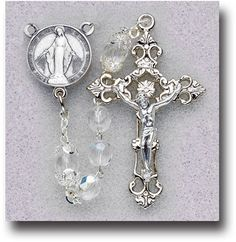7mm Crystal Rosary W/ Mystery by Hirten | Catholic Shopping .com