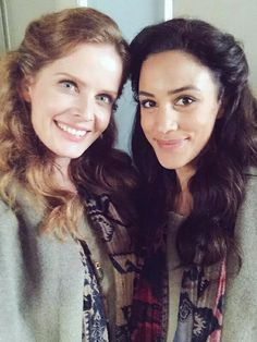 Awesome Rebecca (Bex) and Christie Liang ( Zelena and Marian) #Once #BTS #Steveston Village #Richmond Vancouver BC