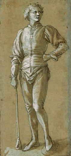 Italian School | 15th or 16th century | Standing Youth Holding a Sling | The Morgan Library & Museum