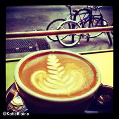 Another delicious Stumptown latte.