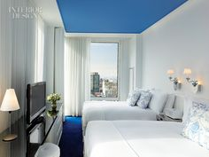 a hotel room that inspires: nice for small