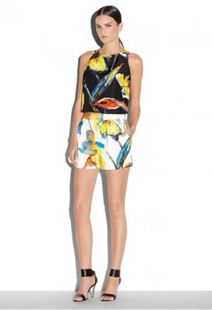 50% OFF Pop art Floral Pleated Short @ Milly  | #labordaysale | Shop and ship with Borderlinx